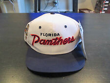 NEW VINTAGE Florida Panthers Sports Specialties Snap Back Hat Hockey Script 90s