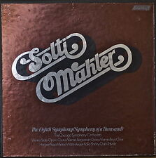 MAHLER: The Eighth Symphony-NM1972 2LP SOLTI/CSO/LUCIA POPP/HEATHER HARPER/WATTS