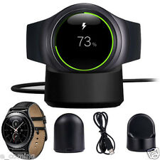 Wireless Charging Dock Cradle for Samsung Galaxy Gear S2 Classic SM-R7320 Black
