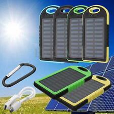 Waterproof 20000mAh Portable Solar Power Bank Charger Dual USB + LED For Phone
