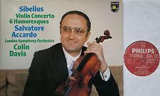 SIBELIUS Violinkonzert Violin Concerto Accardo Davis LP PHILIPS 9500675 NM/M