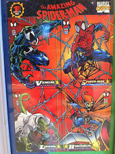 VINTAGE AMAZING SPIDERMAN 1ST EDITION 4 CARD PROMO SHEET,  1994, MARVEL CARDS