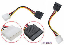 2x 4 PIN MOLEX TO 15PIN SATA FEMALE POWER ADAPTER CABLE