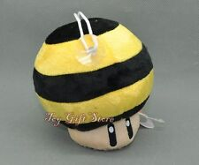"BEE Mushroom 5"" Super Mario Bros. Plush Doll Stuffed Toy"