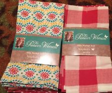 The Pioneer Woman~Flea Market Red~Napkins~Set Of 8~New~Kitchen~Dining