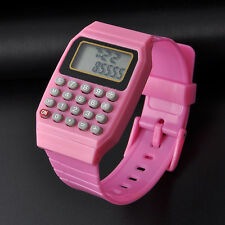Fashion Silicone Date Multi-Purpose Child Kid Electronic Wrist Calculator Watch