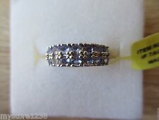 Tanzanite Ring Platinum Overlay Sterling Silver Size 5,7,8 Option