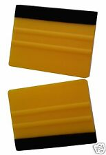 2 x PRO FELT EDGE YELLOW SQUEEGEES VINYL DECAL WRAPPING APPLICATION TOOL CAR VAN