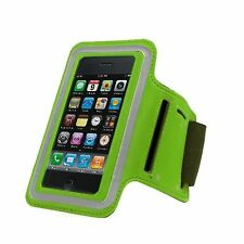 GREEN Armband Case for Jogging Running Apple iPhone 5 5S Holder Cover with Strap