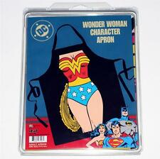 WONDER WOMAN DC Comics Justice League Superheroine KITCHEN WORK APRON Black New