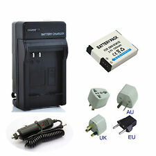 Battery + Charger For Panasonic Lumix DMC-TZ40 DMC-TZ55 DMC-TZ61 Digital Camera