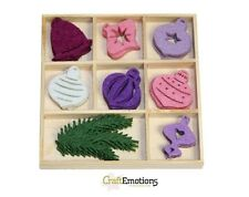 Craft Emotions Box of 40 FELT SHAPES ORNAMENTS  XMAS BALLS 800400/0151