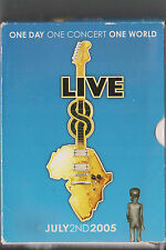 LIVE 8 DVD MUSIC CONCERT 2005 MCCARTNEY COLDPLAY MADONNA CAREY KILLERS U2 FLOYD
