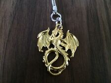 Stunning Gold Coloured Dragon Keyring , Good Quality , Sent In A Gift Bag