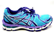 Asics Gel Kayano 19 Women's Running Shoes T350Q 4036 Turquoise Grape White 9.5