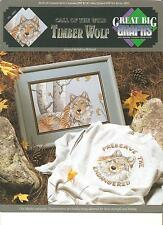 """GREAT*BIG*GRAPHS """"TIMBER*WOLF"""" COUNTED CROSS~STITCH PATTERN CHARTS"""