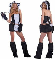 SEXY FURRY PANDA BEAR HALLOWEEN COSTUME WOMEN'S SIZE M/L 8 - 12