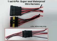 6-pin Male/Female Set Waterproof Connector Wire Harness