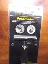 Bike Handlebar Extender by Topeaks adds extra mounting for lights computers, etc