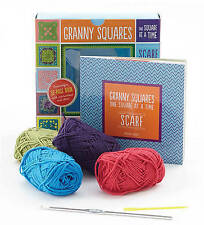 Granny Squares, One Square at a Time / Scarf: Includes Hook and Yarn for Making