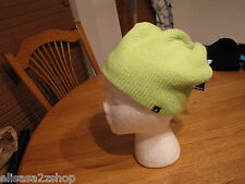 Men's Hurley beanie cap hat surf skate surf knit lime green NEW water repellent