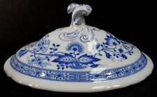 HUTSCHENREUTHER china BLUE ONION pattern Oval Covered Vegetable Lid ONLY