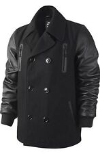 NSW NIKE LEBRON PEACOAT LEATHER WOOL JACKET Sz XL varsity 507702-010 destroyer