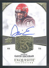 2013 Exquisite #101 Gavin Escobar On Card Autograph RC #62/70  SAN DIEGO STATE
