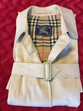 Burberry London Ladies L/XL 16 Trench Coat Tan With Wool Lining
