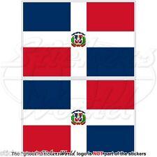 DOMINIKANISCHE REPUBLIK Nationalflagge, Staat-Kriegsflagge 100mm Aufkleber x2