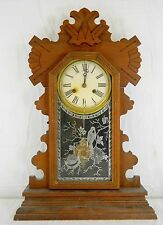 ANTIQUE 1890'S ANSONIA BEAVER MANTLE/PARLOR CLOCK WITH BUFFALO STRIKE