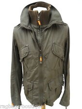 Mens Superdry THIN LIGHTWEIGHT TAMARIN Khaki Green UTILITY JACKET - Size Medium