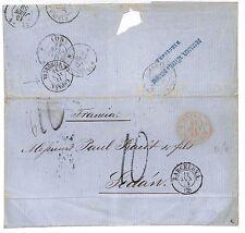 L72 1859 Spain, Maritime-Europe, (Note: Espana La Junqeura & Fine Transits)