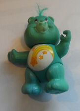 Vintage 1980's Poseable Care Bear Wish Bear Turquiose Green Star