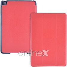 Funda para iPad MINI IMÁN SMART COVER ROJO Tapa Delantera y Trasera a836