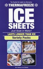ThermaFreeze~6 Sheet 3 Sz Variety Pack~Reusable Flexible ICE Sheets~6x4,4x3