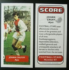 NETHERLANDS - AJAX - JOHAN CRUYFF - Score UK football trade card