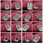 Long Sliver Stainless Steel Chains 12 Zodiac Signs Pendant Necklace Colorfast