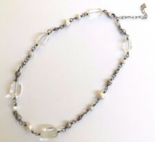 Silpada Sterling Silver Freshwater Pearl Crystal Bead Necklace - N1602 - RETIRED