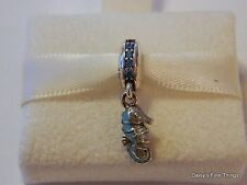 NEW! AUTHENTIC PANDORA CHARM TROPICAL SEAHORSE #791311MCZ  P