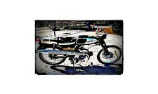 1965 honda s65 Bike Motorcycle A4 Photo Poster