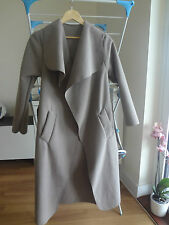 MOCHA WATERFALL DRAPE MAXI COAT