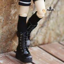 1/4 BJD Shoes MSD Dollfie DREAM Black leather Boots MID DOD LUTS SOOM AOD EID DZ