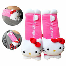 1 Pair Seat Car Hello Kitty Belt Cover Accessory One Set Covers New Plush Pads