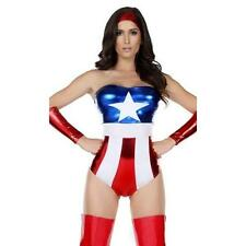 Forplay Sexy Wonder Woman 4-Pc Body Suit Womens Adult L-XL Costume FAST! D61