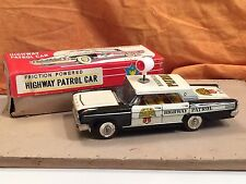 BLECHSPIELZEUG FORD FRICTION POWERED HIGHWAY PATROL CAR TAIYO JAPAN