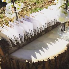 Rustic Wedding Place Card Holders Tree Slices Decor  Wood Disc Tree Log Round