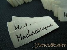 1200 Custom Garment Woven Labels ( Damask ) for Tee, Clothing,Polo,Dress,Collarl