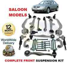 FOR VW PASSAT 2000-2005 FRONT LOWER & UPPER SUSPENSION ARMS + LINKS & BOLTS KIT