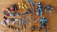 Lot of Mystic Knights of Tir Na Nog Loose Weapons, body parts & pieces